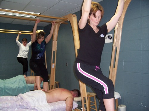 Ashiatsu Therapists at Work