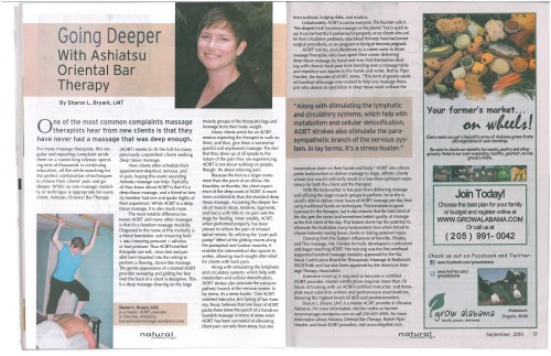 Natural Awakenings Article - September 2010