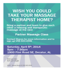 Partner Massage Class