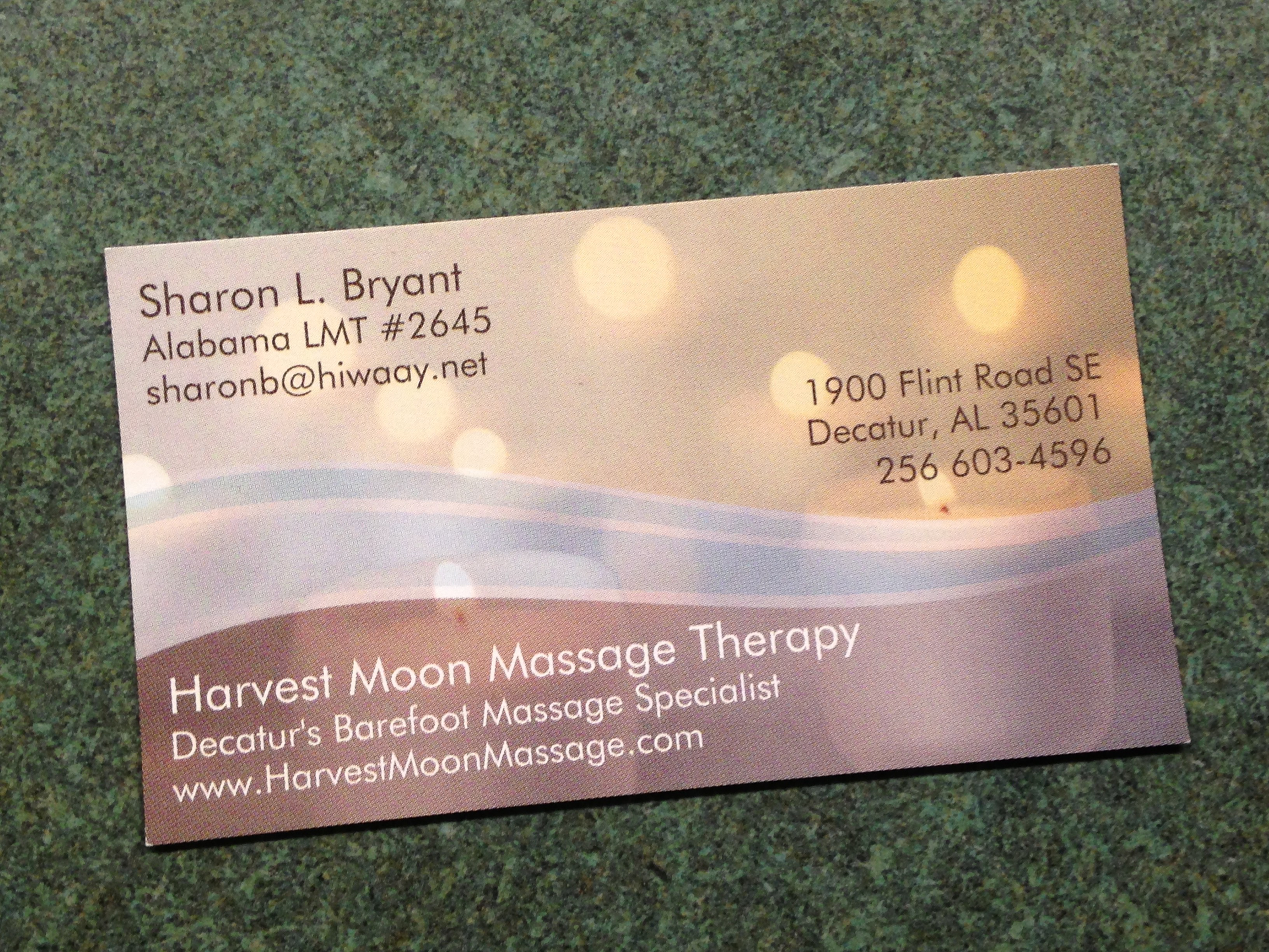 New business cards harvest moon massage therapy and reflexology new cards colourmoves