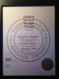 Alabama Massage Therapy License, Harvest Moon Massage Therapy